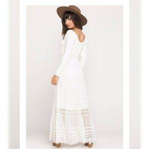 NWT Free People Earth Angel Midi Boho Dress
